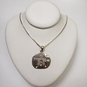 Brand New Sterling Silver Sand Dollar Necklace